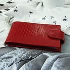 Визитница горизонт ФВ-2, 11,5*1,5*6,5, 1 ряд, 18 карт, с хлястиком, ящер т.красный