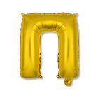 """Шар фольгированный 14"""" """"Буква П"""", индивидуальная упаковка, цвет золотой"""