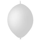 """Шар латексный 6"""", линколун, пастель, набор 100 шт., цвет белый"""