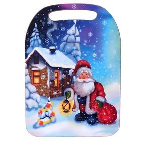 Доска разделочная «Дед Мороз. Домик», Новый год 2020, 30×21×1 см