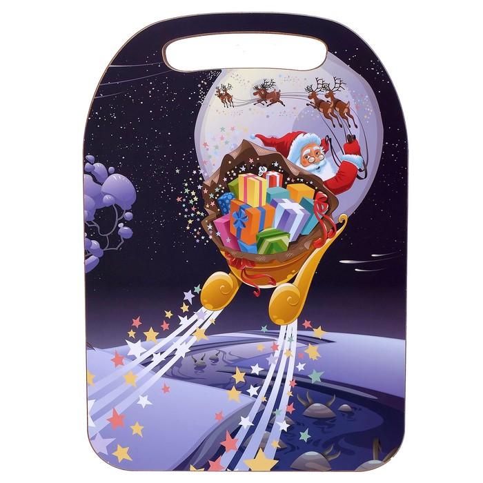Доска разделочная «Дед Мороз с подарками», Новый год 2020, 30×21×1 см