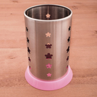 Подставка для столовых приборов 10х16 см, розовый поддон