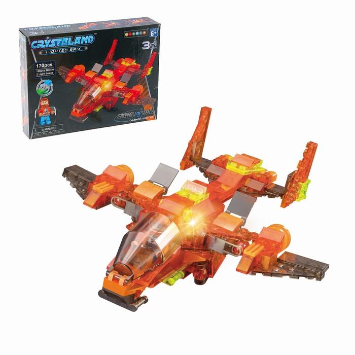 Светящийся конструктор Crystaland « Космический корабль», 3 в 1, 170 деталей