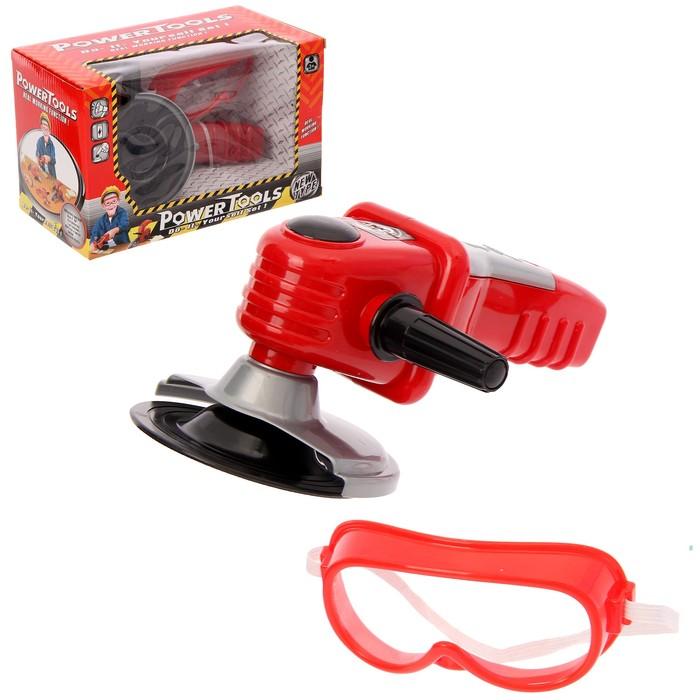 Углошлифовальная машина «Вжик», с очками, работает от батареек