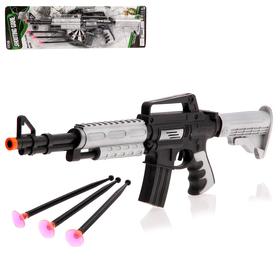 Автомат «М-16», стреляет присосками, цвета МИКС