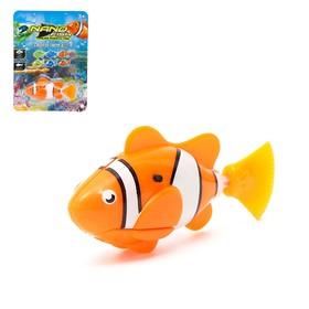 Аквариумная рыбка «Клоун», плавает в воде, работает от батареек