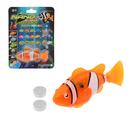 """Аквариумная рыбка """"Клоун"""", плавает в воде, световые эффекты, работает от батареек"""