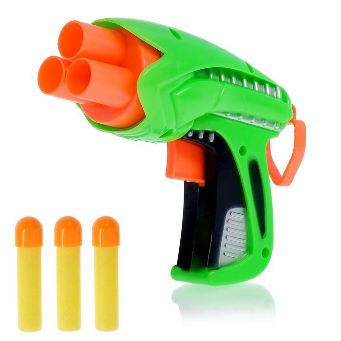 Пистолет «Защитник» стреляет мягкими пулями, цвета МИКС - фото 106525502