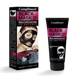 Маска-пленка Compliment no problem black-mask co-enzymes, 80 мл