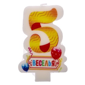 """Candle in cake number 5 """"the Fun"""""""