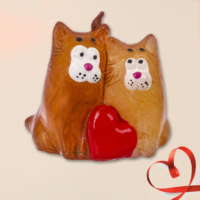 Свеча формовая «Влюблённые коты», 5 см - фото 191762696