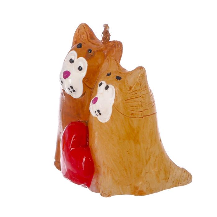 Свеча формовая «Влюблённые коты», 5 см - фото 35610371