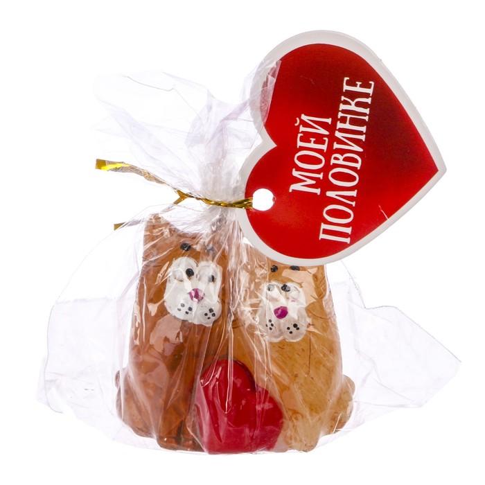 Свеча формовая «Влюблённые коты», 5 см - фото 35610372