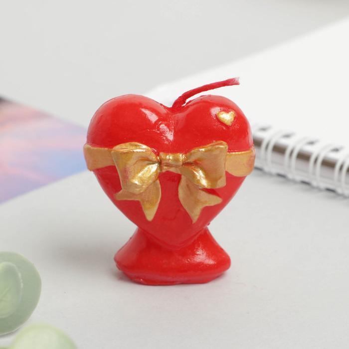 Свеча формовая «Сердце», 5 см