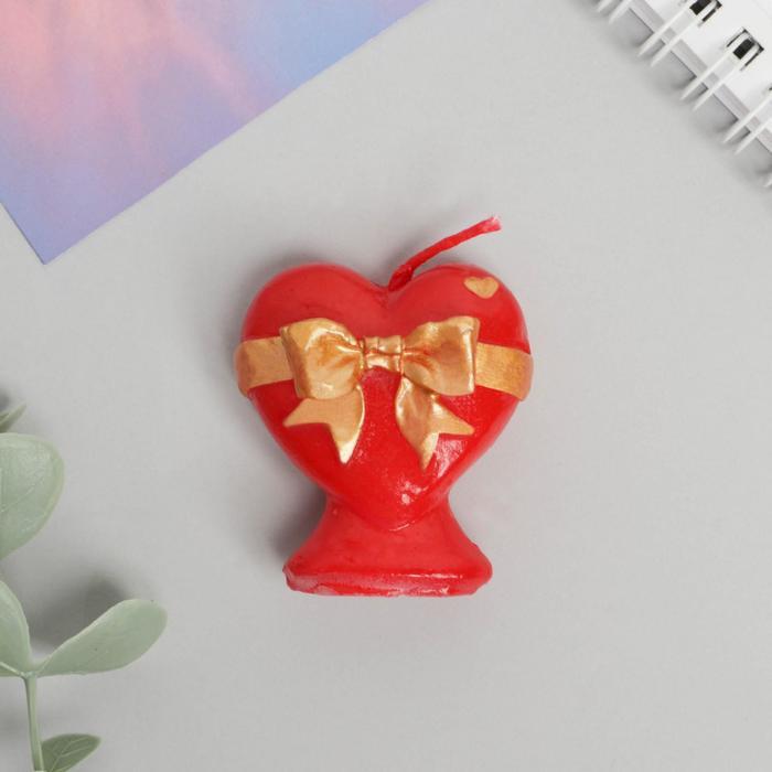 Свеча формовая «Сердце», 5 см - фото 35610375