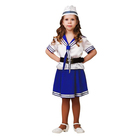 Карнавальный костюм «Морячка», (матроска, юбка, пилотка, ремень), размер 36, рост 140 см