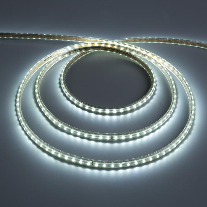 Светодиодная лента 220В,SMD3014, 100 м, IP68, 108 LED, 7,2 Вт/м, 13-15 Лм/LED, AC, БЕЛЫЙ