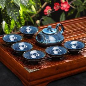 """Набор для чайной церемонии """"Звездное небо"""", 7 предметов: чайник 140 мл, 6 чашек 40 мл, цвет синий МИКС"""