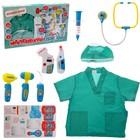 Набор доктора №4 «Лучший врач» с халатом и шапочкой, 9 предметов - фото 107067592
