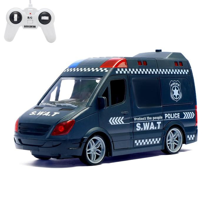 Машина радиоуправляемая «Спецназ», работает от батареек, световые и звуковые эффекты