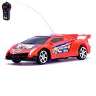 Машина радиоуправляемая «Ламбо», работает от батареек, цвет красный