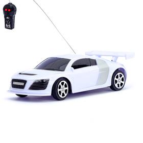 Машина радиоуправляемая «Купе», работает от батареек, цвет белый
