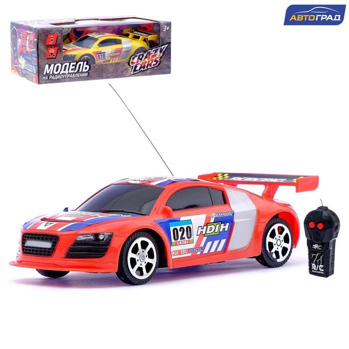 Машина радиоуправляемая «Болид», работает от батареек, цвет красный