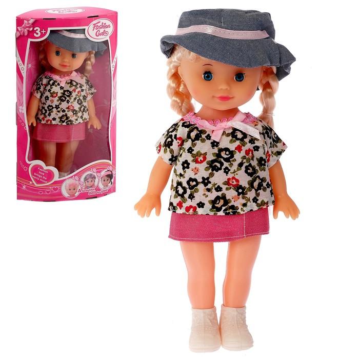 Кукла «Вита» в платье со шляпой