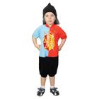 """Карнавальный костюм """"Рыцарь"""", велюр, комбинезон, шапка, рост 98-104 см"""