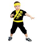 """Карнавальный костюм """"Ниндзя: Жёлтый дракон"""", велюр, комбинезон, шапка, рост 86-92 см, 1,5-3 года"""