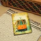 """Обложка для автодокументов """"Трамвай"""", цвет жёлтый"""