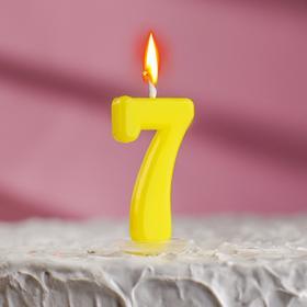 Свеча в торт цифра 7, голубой Ош