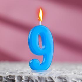 Свеча в торт цифра 9, МИКС