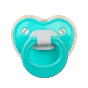 Пустышка силиконовая ортодонтическая с колпачком, от 0 мес., цвет голубой