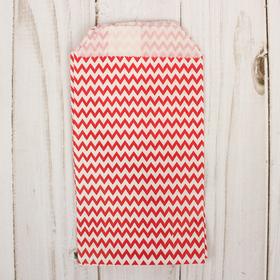 Пакет фасовочный 'Красные зигзаги', 8 х 15 см Ош