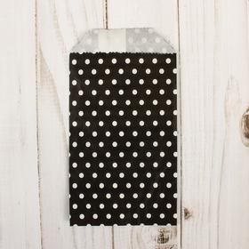 Пакет фасовочный 'Горошек на черном' 8 х 15 см Ош