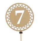 Топпер «7», вид 1, натуральный