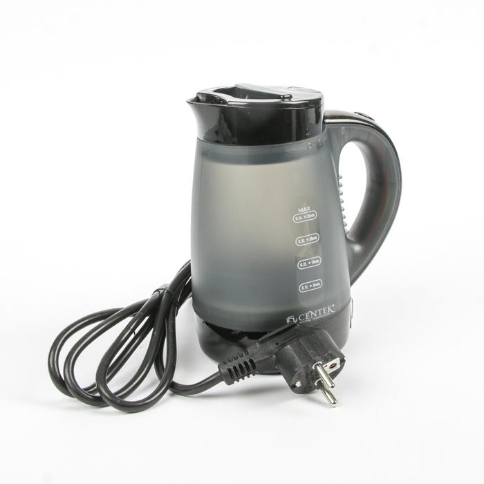 Отпариватель-чайник Centek CT-2381, 1000 Вт, 400 мл, 15г/мин, серо-черный