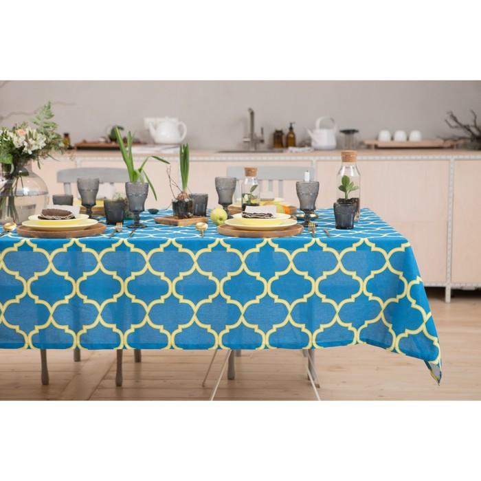 "Tablecloth ""Share"" Morocco Yellow 145х250 cm, 100% cotton, matting, 162 g/m2"
