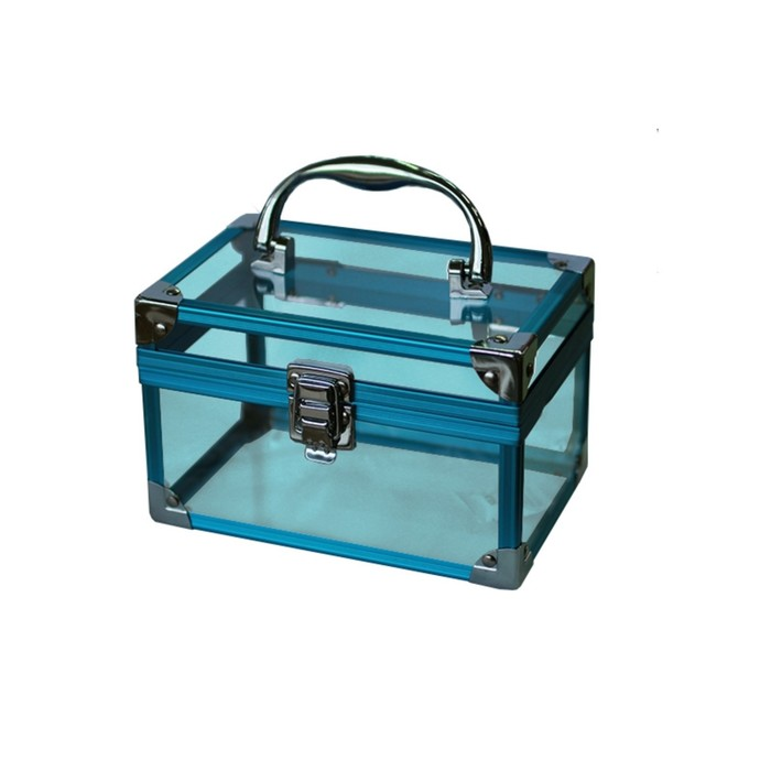 Кейс Kelly 175x115x115 мм, цвет голубое стекло