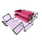Кейс для косметических принадлежностей, цвет 270x170x175 мм, цвет пурпурное стекло
