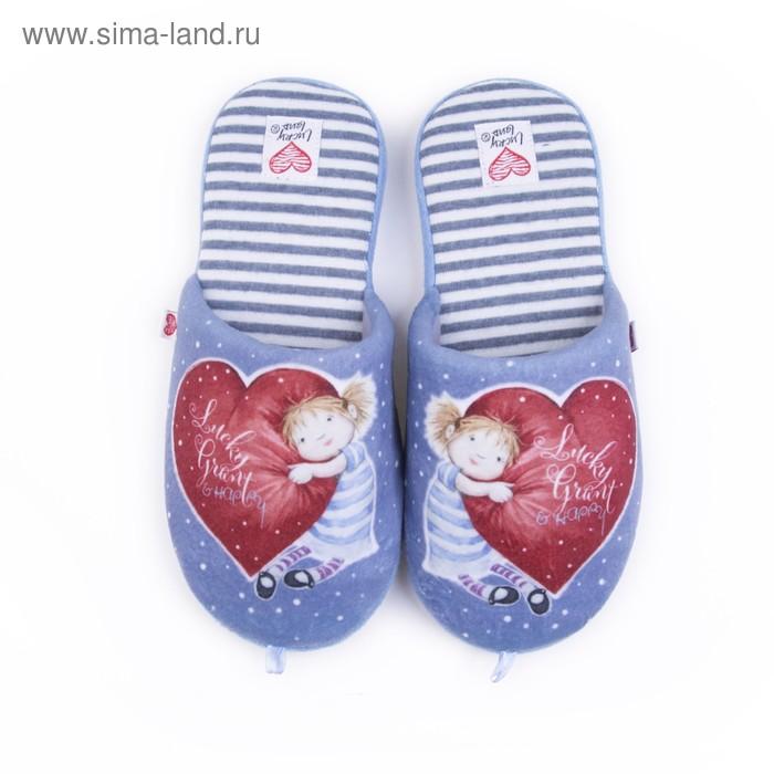 Тапочки женские арт. 2609 W-ASС-W , цвет голубой, размер 36
