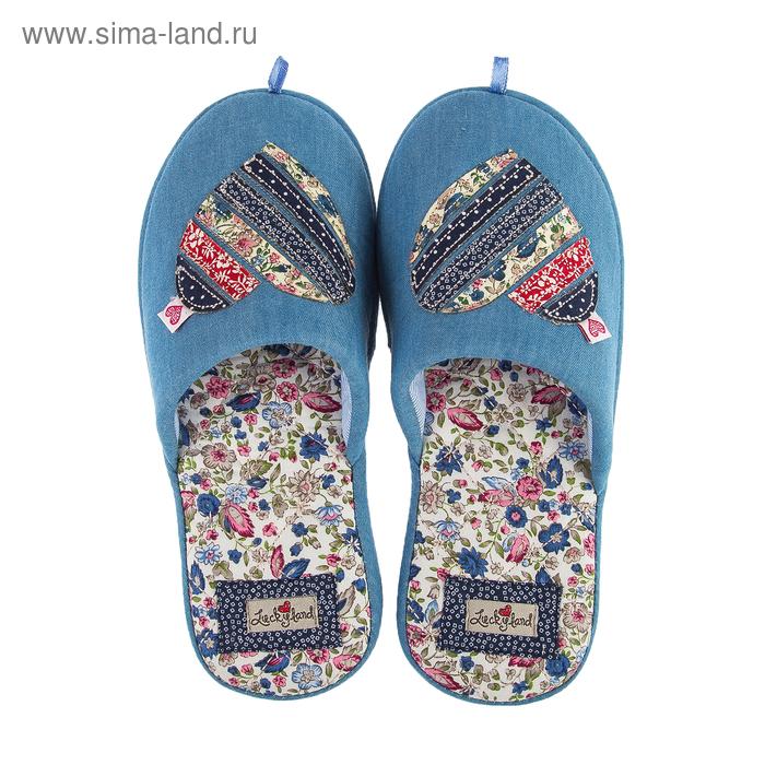 Тапочки женские арт. 2613 W-ASС-W , цвет голубой, размер 36