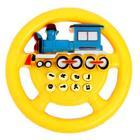 Руль музыкальный «Паровоз», работает от батареек, цвета МИКС - фото 105636518