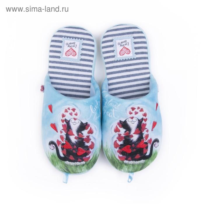 Тапочки женские арт. 2617 W-ASС-W , цвет голубой, размер 40