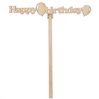 """Топпер """"Happy birthday"""" из фанеры, 15х3 см (ТПР-232)"""