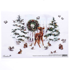 """Скрап-карта формата А4 """"Зверятки в снежном лесу"""" (sck690)"""