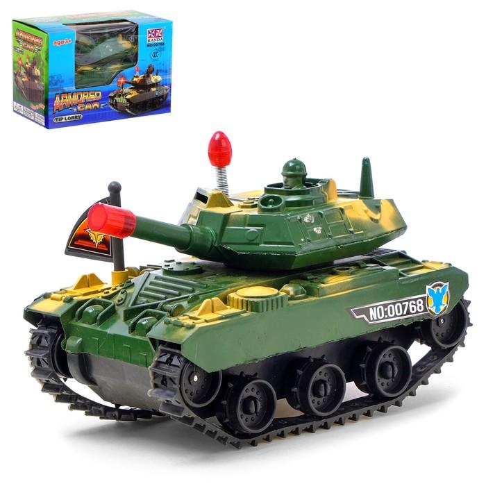 Танк «Атака», работает от батареек, световые эффекты, цвета МИКС - фото 105649298