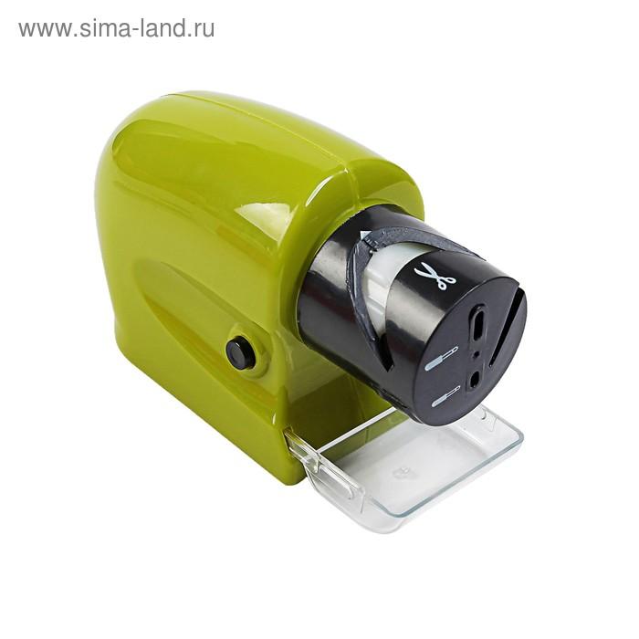 Точилка LuazON LTE-02, для ножей, ножниц, отвёрток,  работает от 4хАА (не в комплекте)