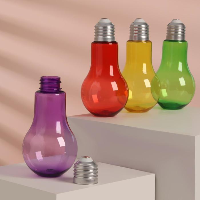 "Бутылочка для хранения ""Лампочка"", 150мл, цвет МИКС"